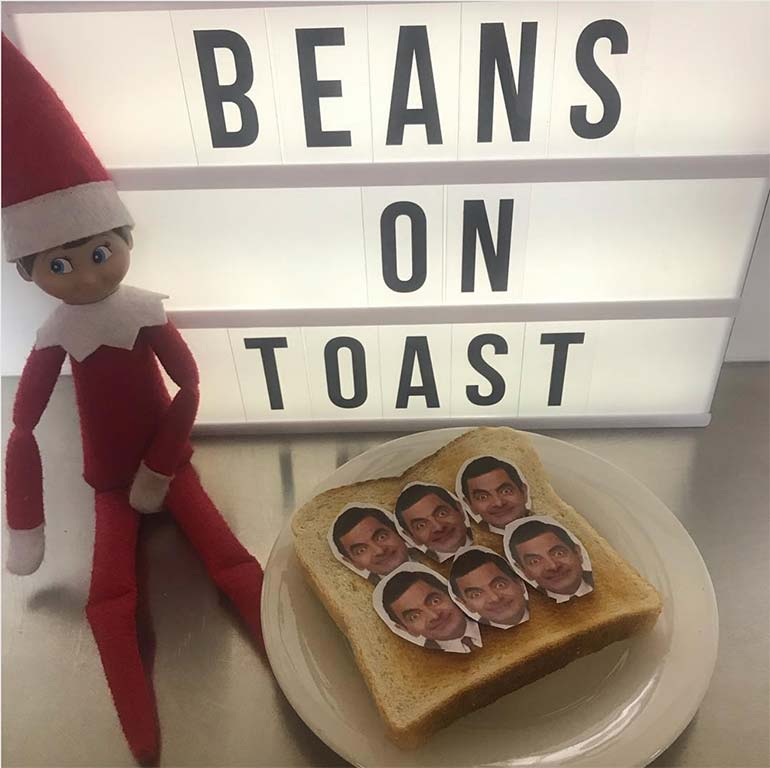 funny elf on the shelf photo