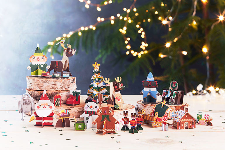 Looky Here! Cute Christmas Pop-Out Collectables Coming to ...