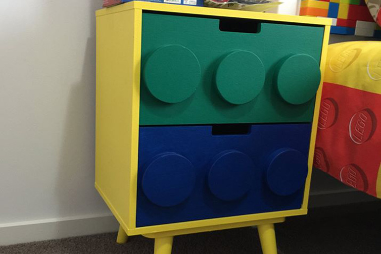 latest Kmart hack - Lego side table