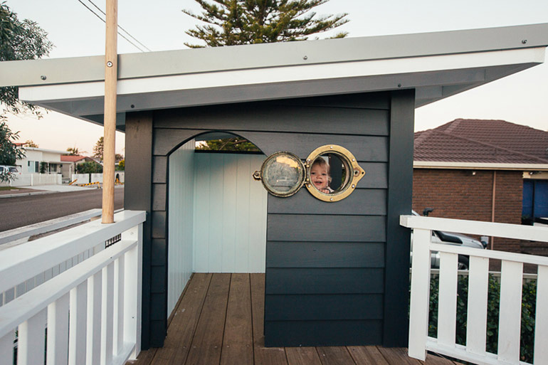 Kyal and Kara build amazing backyard cubby