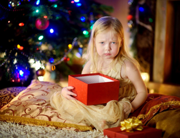 Christmas tantrums - child unhappy with Christmas gifts