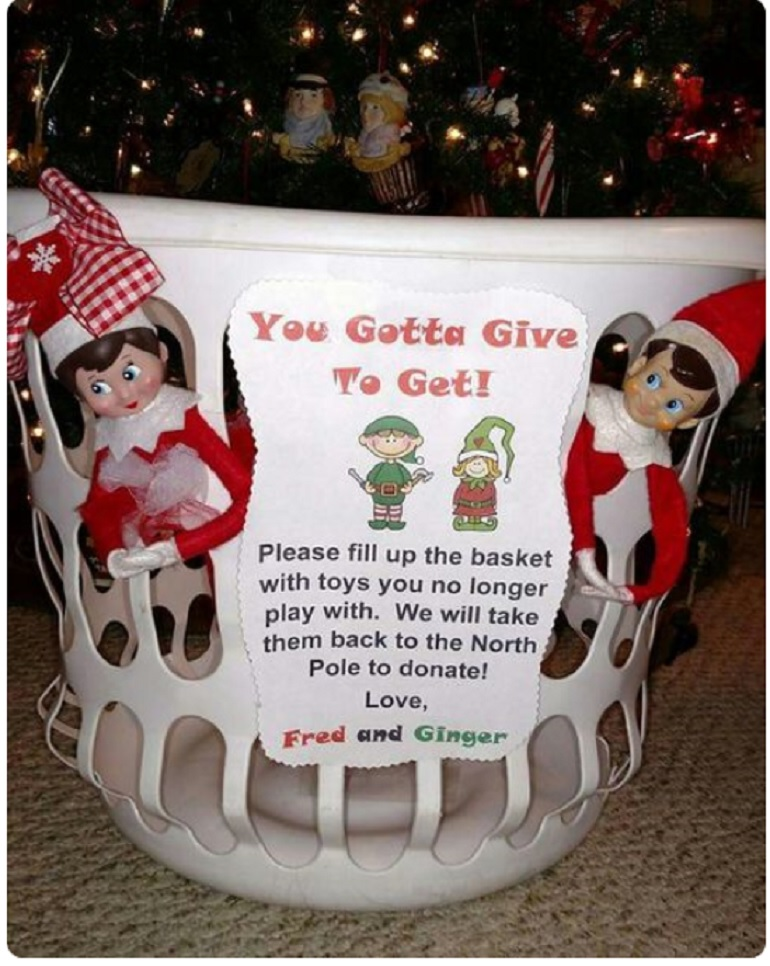 Elf on Shelf donation idea
