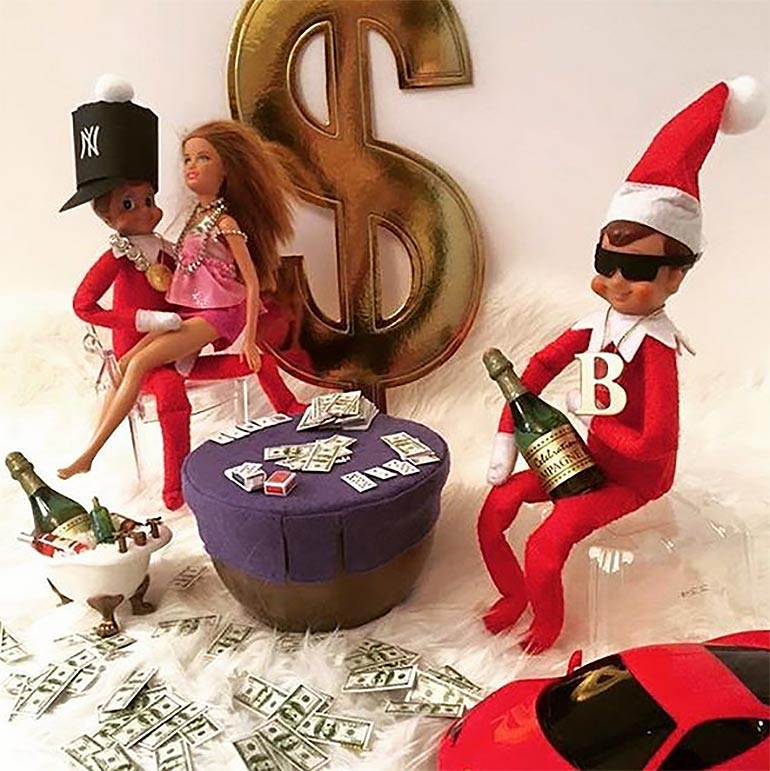 gangsta elf on the shelf idea naughty elf on the shelf