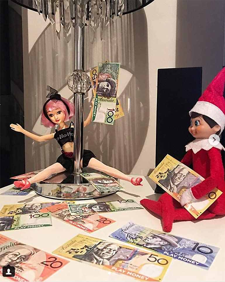 naughty elf on the shelf