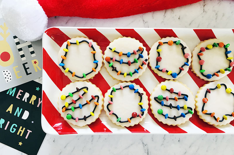 Christmas light shortbread biscuit recipe