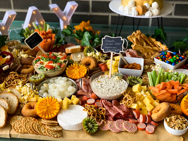 grazing table ideas for christening party