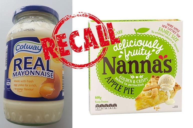 nanna pie and mayonnaise recall