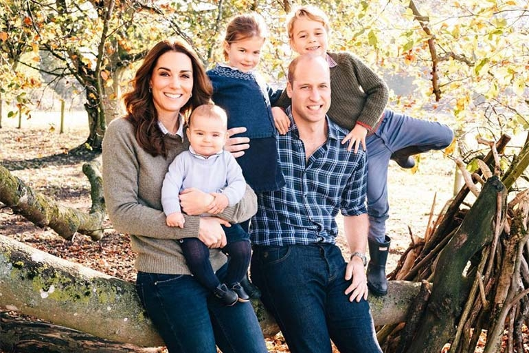 William and Kate royal christmas photo