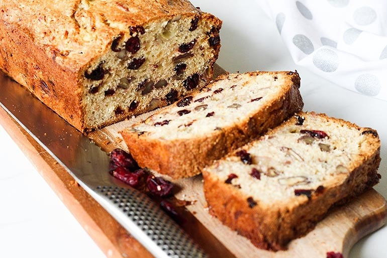 Cranberry banana and pecan loaf recipe, Banana Bread