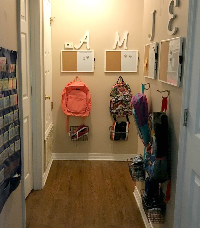 back to school hack - hallway organisation