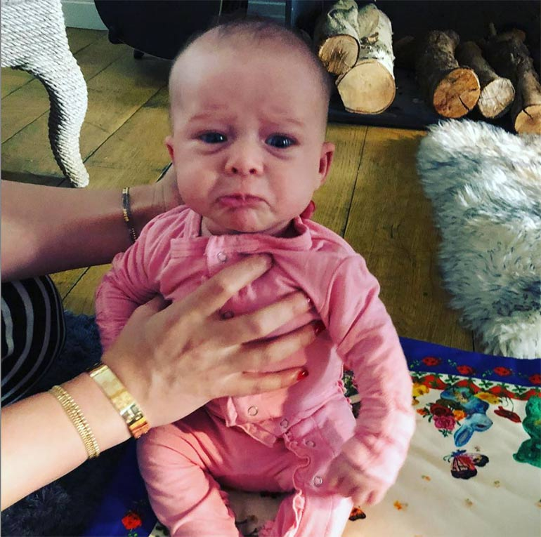 Hilary Duff's baby with colic