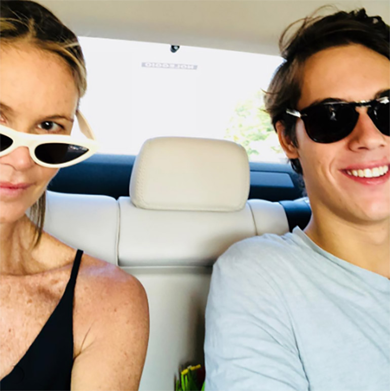 Model Elle Macpherson and son Cy Busson