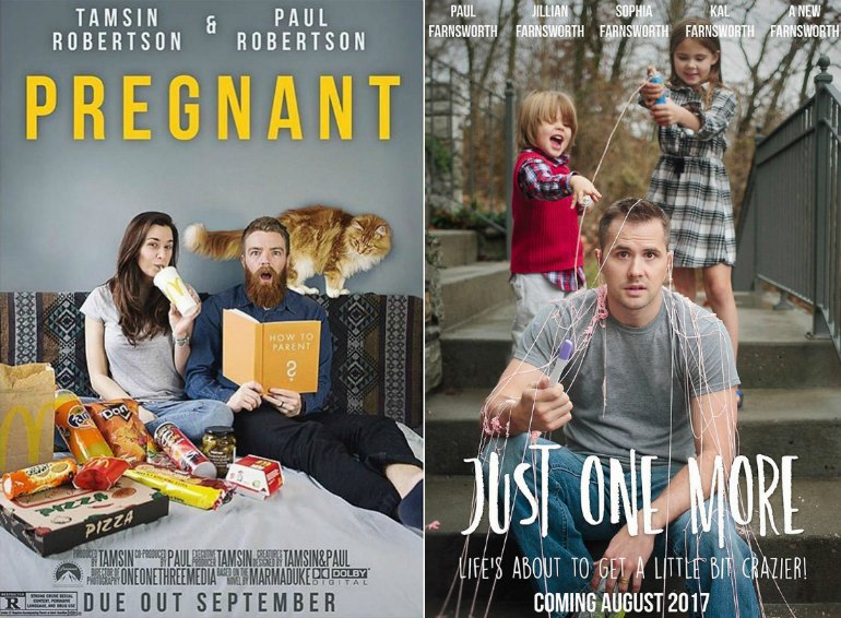 Pregnancy announcement movie posters