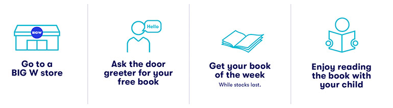Race into BIGW to get your hands on free kids books, with