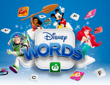 disney words woolworths
