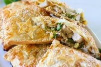 Chicken leek puff pastry parcels recipe