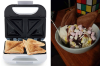 kmart sandwich maker cake hack