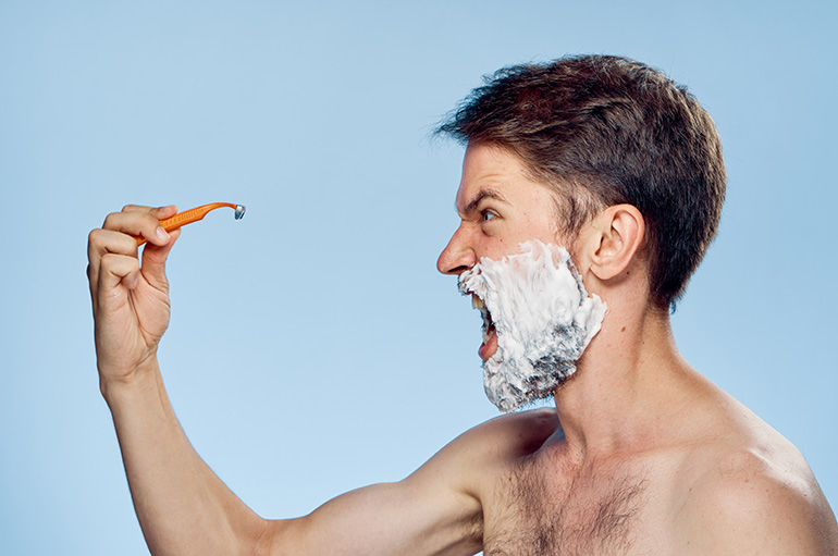 annoying husband, shaving