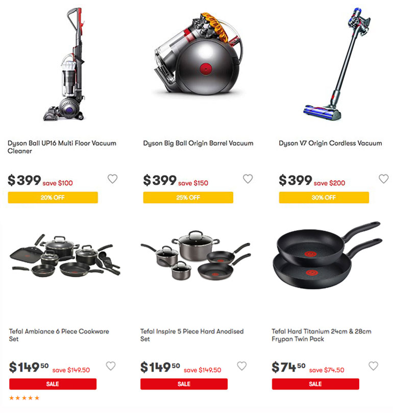 Big W sale home appliances and kitchenware