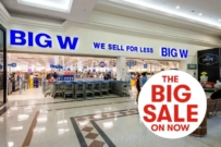 Big W storefront half price sale