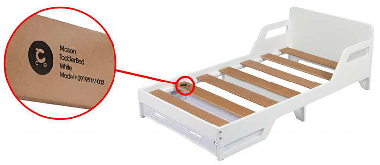 childcare mason toddler bed recall