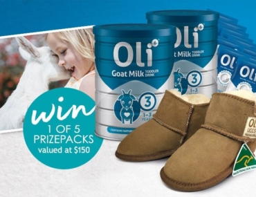 Oli6 Goat Milk Toddler Drink and ugg boots