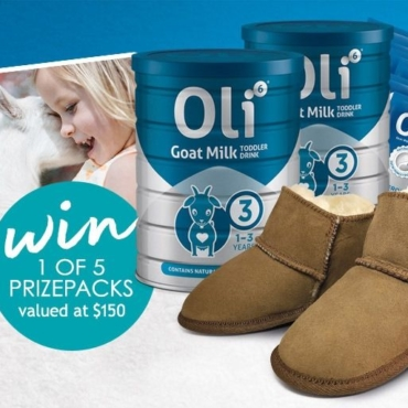 Oli6 Goat Milk Delivers Essential Toddler Nutrition. Enter to WIN UGGs!