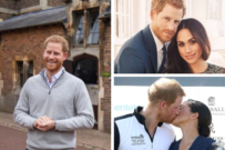 Images of Prince Harry and Meghan Markle