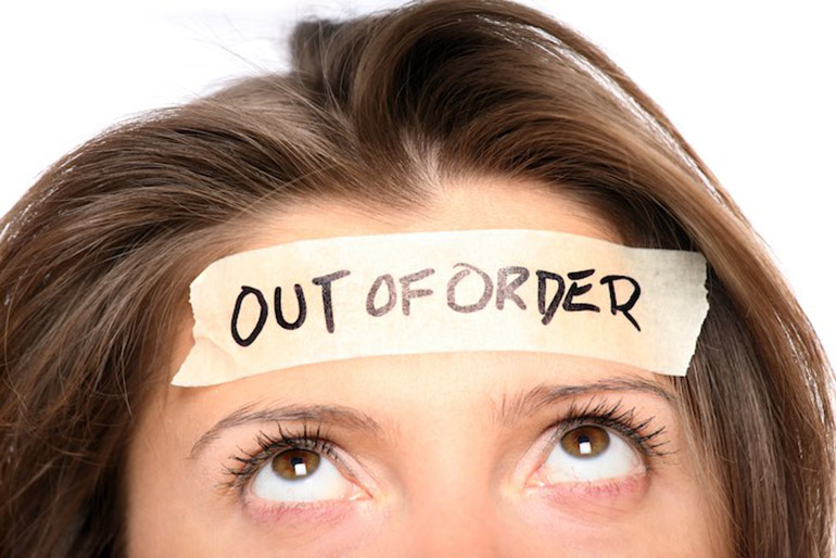 mom out of order sign, PMS