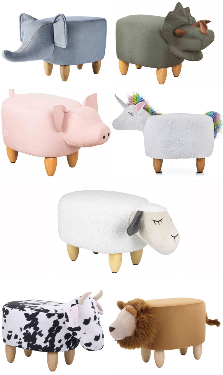 Big W animal ottomans | 7 animals
