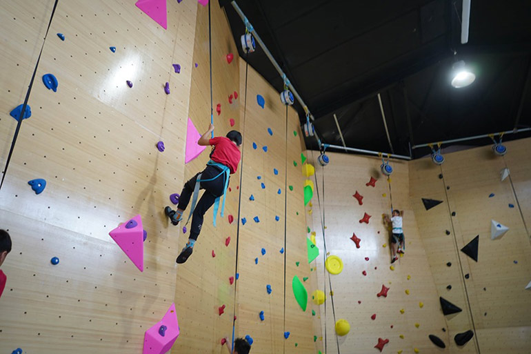 Indoor play centre Victoria climbing wall