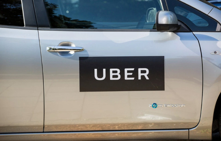 Uber taxi similar to the on ein which a woman gave birth