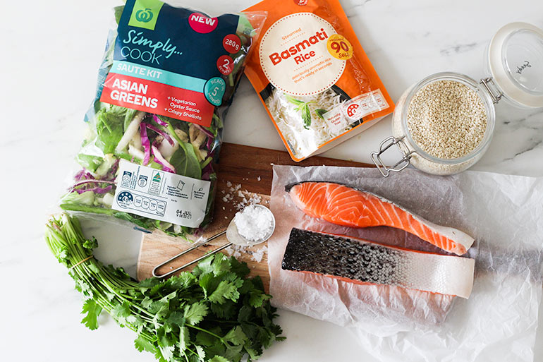 Salmon bowl recipe ingredients