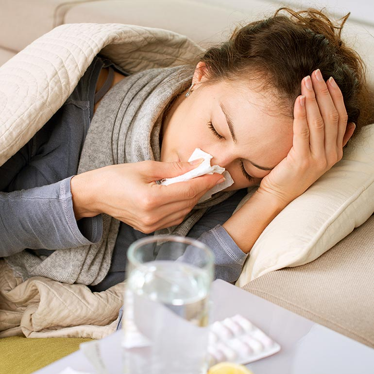 mum with flu natural cold and flu remedies