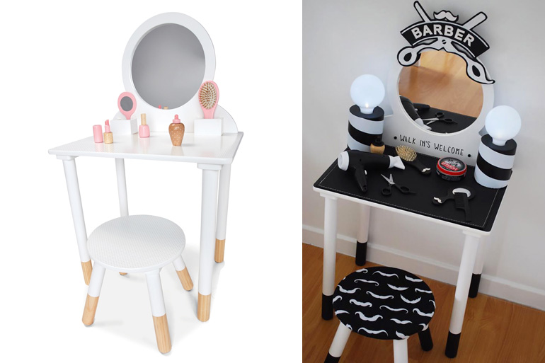 kmart hacks vanity table makeover