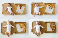 track baby growth milestones with pizza!
