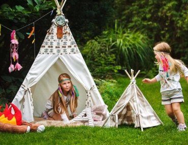 school holiday activites, camping, teepee, play
