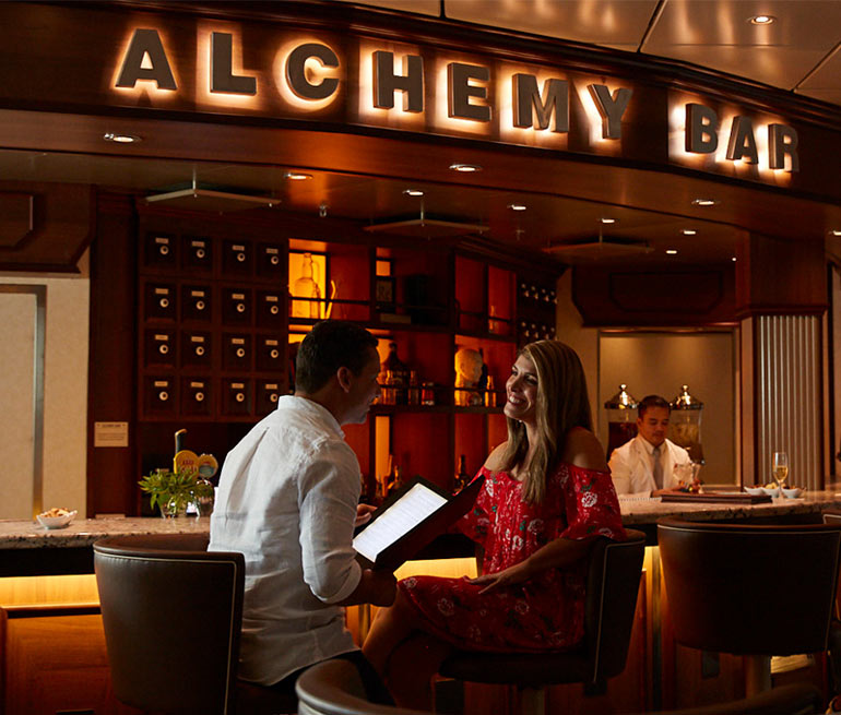 Alchemy Bar on board Carnival Cruises