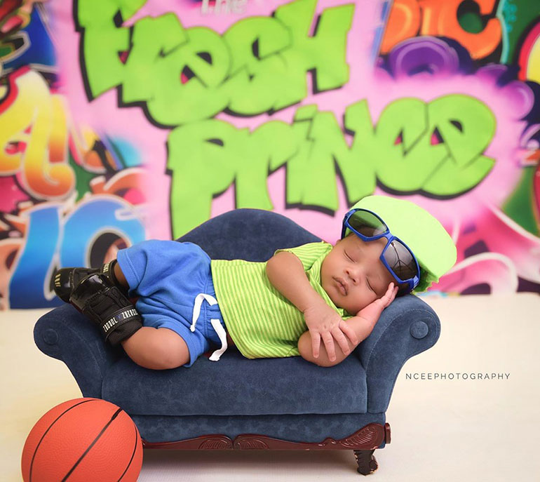 Nikki Cee baby photography fresh prince of bel-air