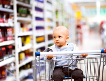 baby in supermarket trolley perfect excuse