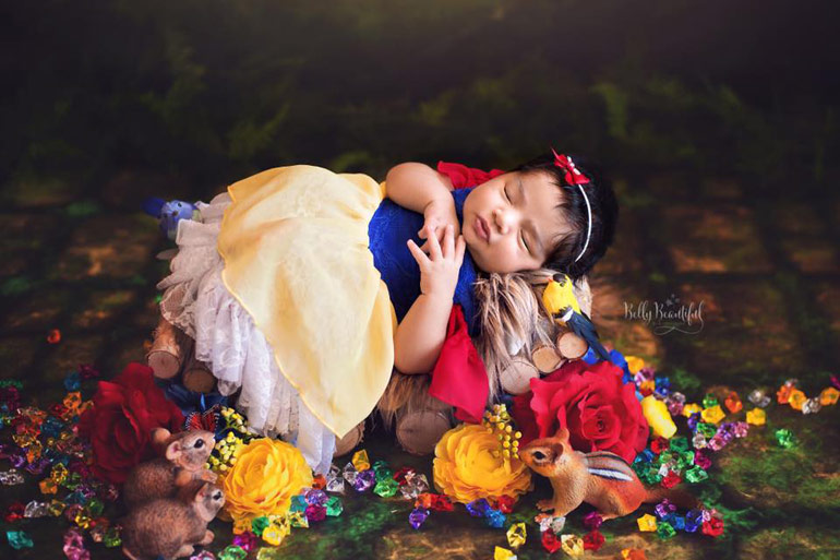 newborn photos Disney princesses