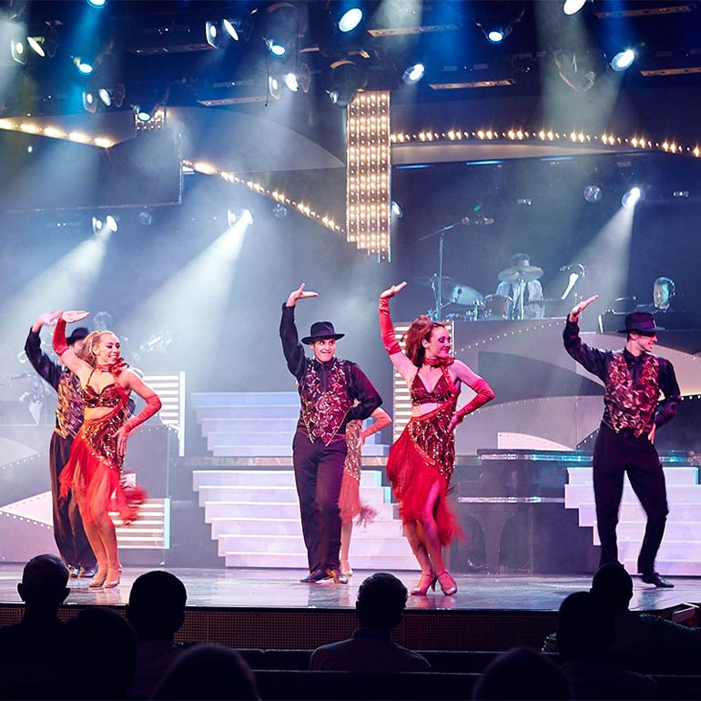Stage show Carnival cruises