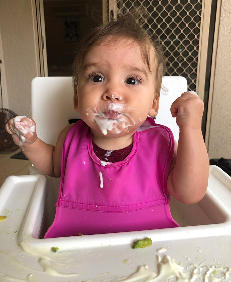 baby Lily eating