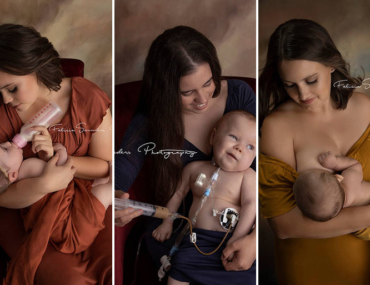 baby feeding photography