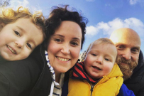 Jess Morgan with family no maternity leave