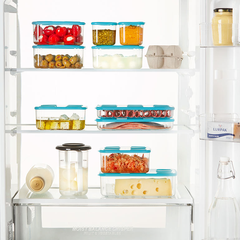 organised pantry Tupperware containers
