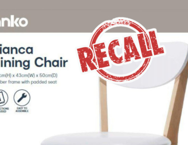 anko bianca dining chair recall