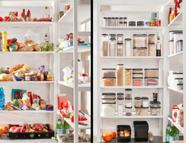 tupperware before and after pantry makeover