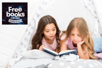 two girsl reading, big w free books for kids