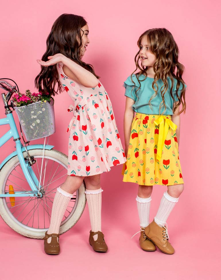 Oobi bright pattern skirts and dresses